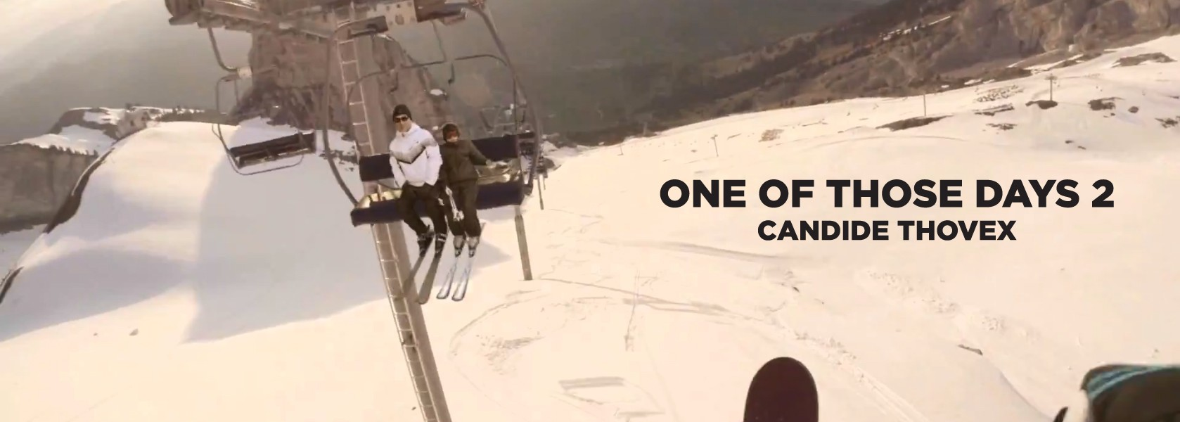 Candide Thovex jumping on skis over a chairlift in One Of Those Days 2