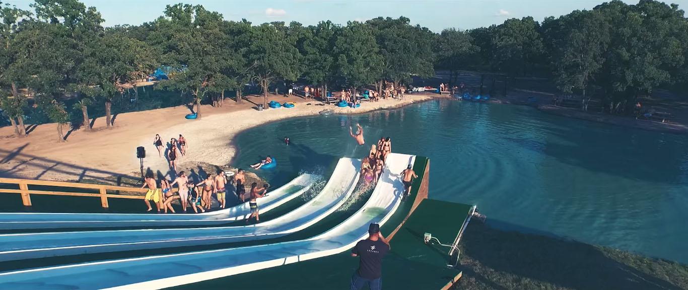 Texas Wake Park Water Slide Video Screenshot Girls Slip n Slide Hyera Adventure